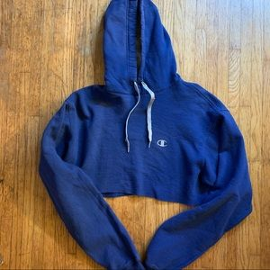 Custom cropped Champion hoodie